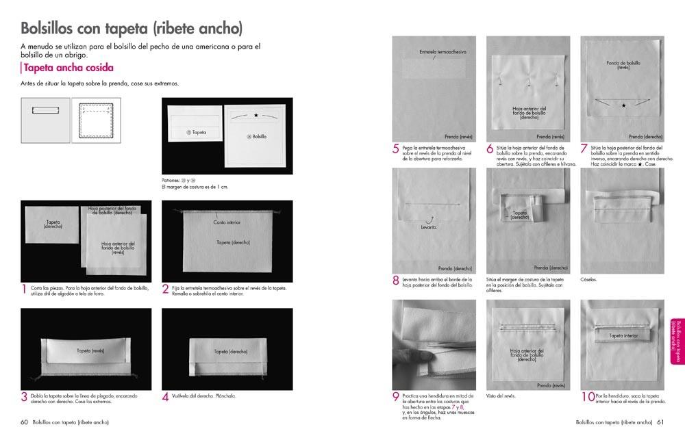 Las bases de la costura. Los bolsillos, de Yoshiko Mizuno - Editorial GG