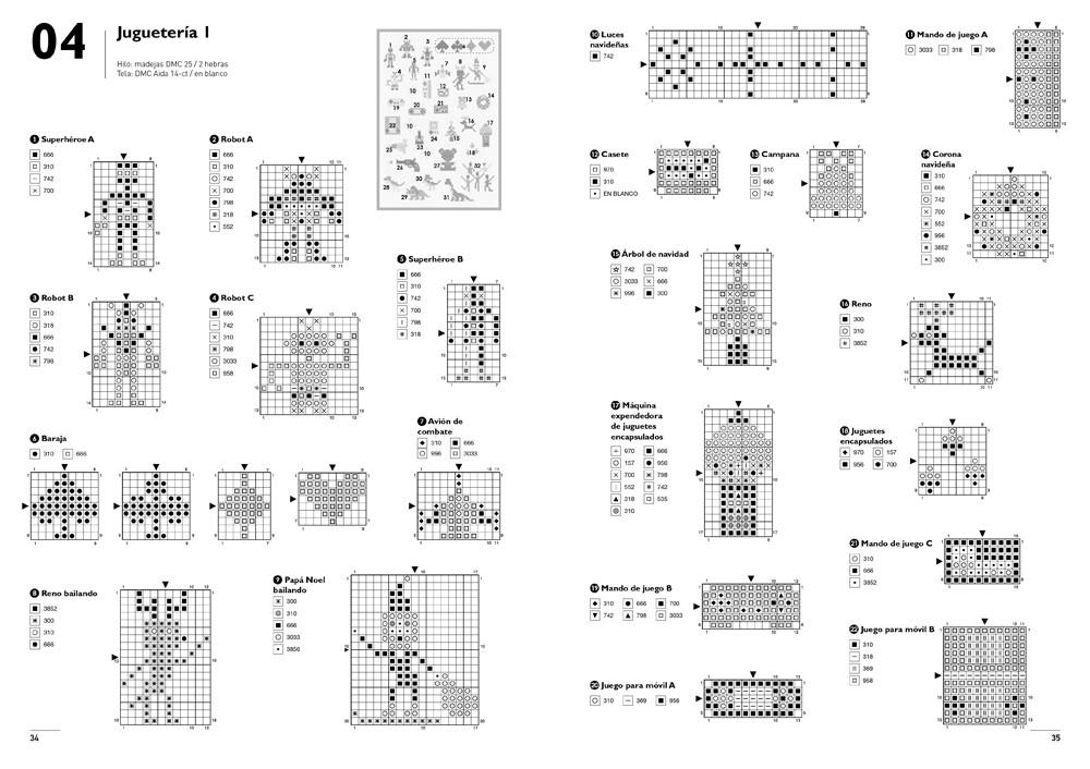 Mega mini punto de cruz, de Makoto Oozu - Editorial GG