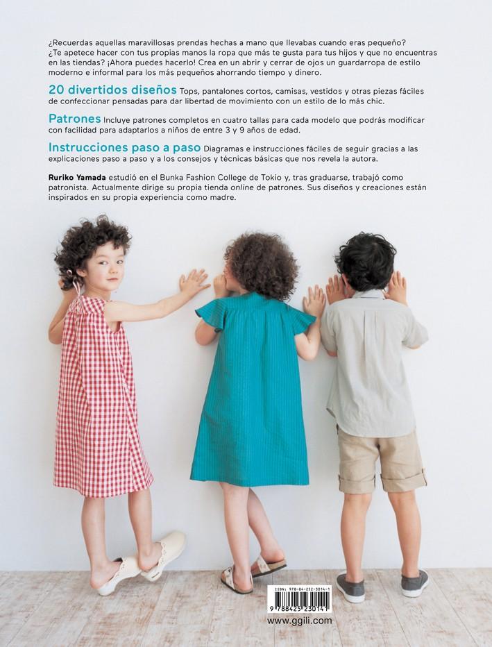 Costura chic para niños, de Ruriko Yamada - Editorial GG