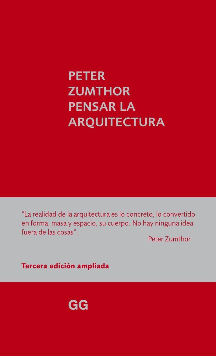 Resultado de imagen para pensar la arquitectura peter zumthor