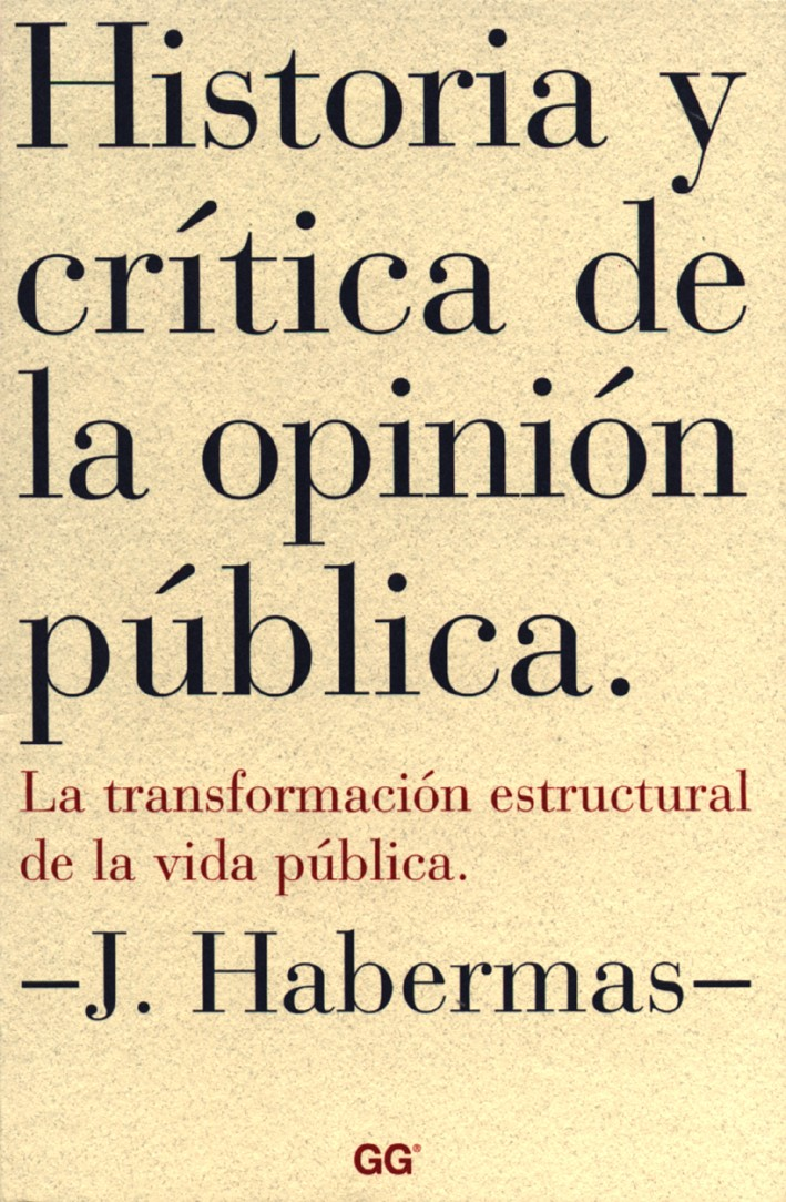 Historia y crítica de la opinión pública