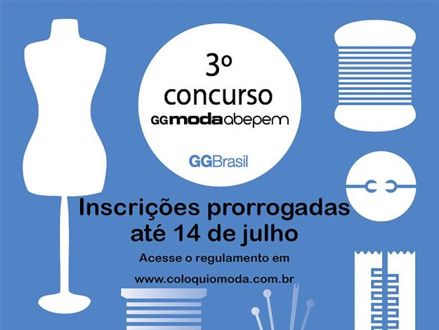 3º Concurso GG Moda - Inscrições prorrogadas até 14 de Julho