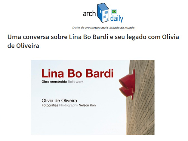 Indicação do Parceiro: ArchDaily sobre o livro Lina Bo Bardi