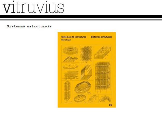 Indicação do Parceiro: Vitruvius sobre o livro Sistemas Estruturais