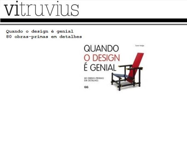 Indicação do Parceiro: Vitruvius sobre o livro Quando o design é genial