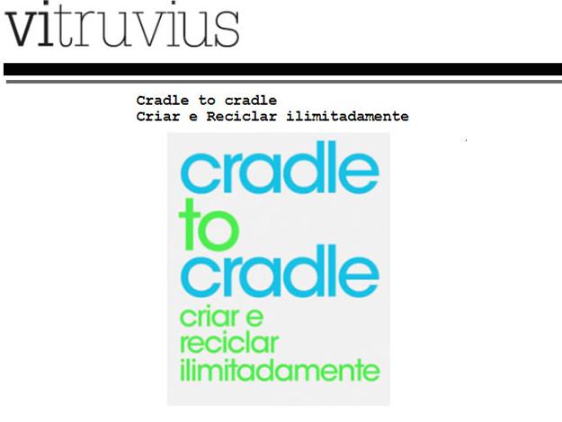 Indicação do Parceiro: Vitruvius sobre o livro Cradle to Cradle