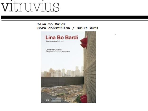 Indicação do Parceiro: Vitruvius sobre o livro Lina Bo Bardi
