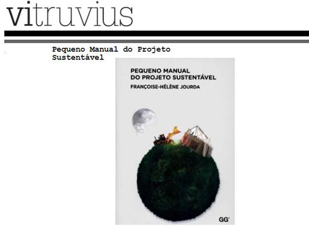 Indicação do Parceiro: Vitruvius sobre o livro Pequeno Manual do Projeto Sustentável
