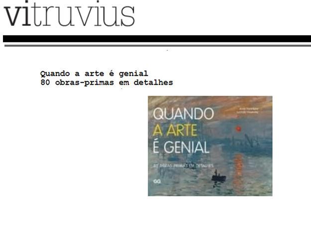 Indicação do Parceiro: Vitruvius sobre o livro Quando a arte é genial