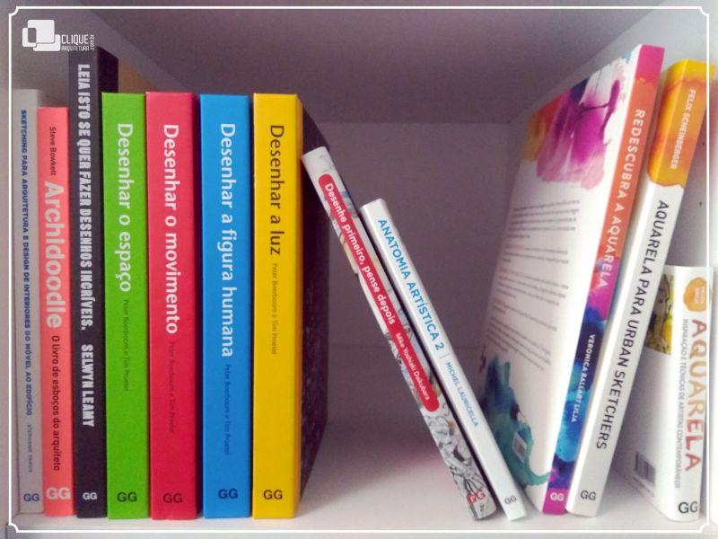 Indicação do Parceiro: Clique arquitetura sobre livros para pintura e desenho
