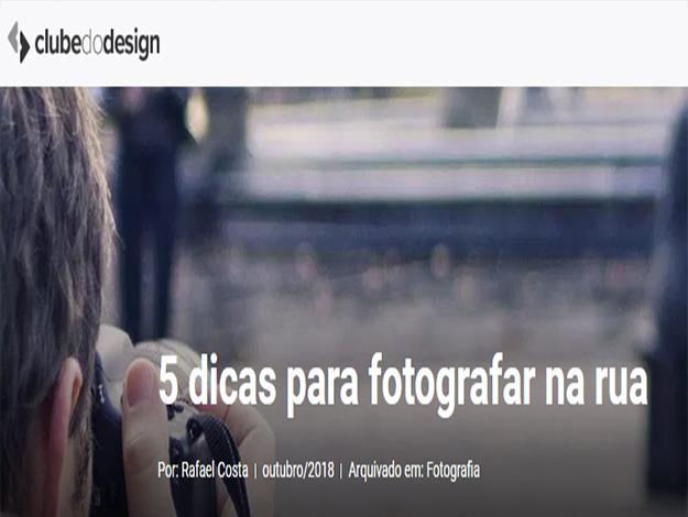 Indicação do Parceiro: Clube do design sobre o livro A prática da fotografia de rua