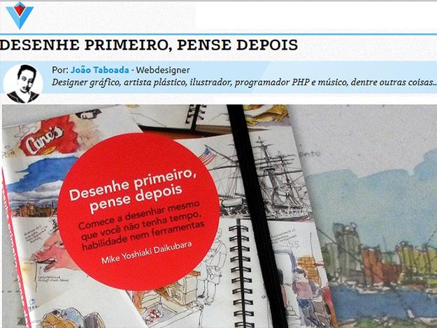 Indicação do Parceiro: Visuarea sobre o livro Desenhe primeiro, pense depois