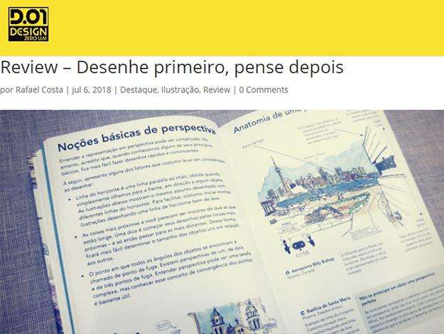 Indicação do parceiro: Design zero um sobre o livro Desenhe primeiro, pense depois