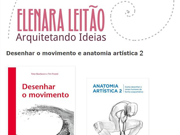 Indicação da Parceira: Arquitetando ideias sobre os livros Desenhar o movimento e Anatomia artística 2
