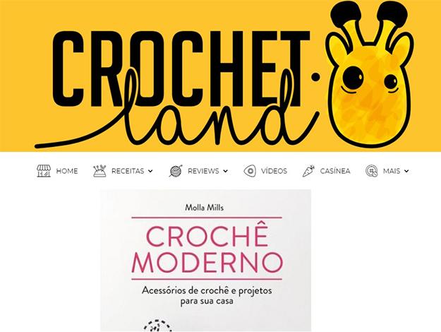 Indicação da Parceira: Crochet.Land sobre o livro Crochê moderno