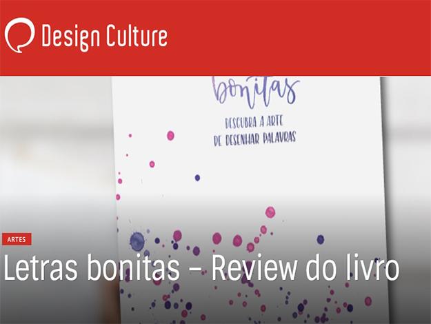 Indicação do parceiro: Design Culture sobre o livro Letras bonitas