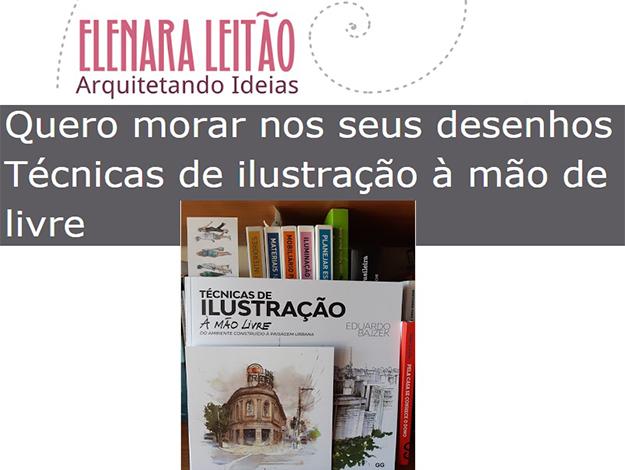 Indicação da parceira: Arquitetando Ideias sobre o livro Técnicas de ilustração à mão livre