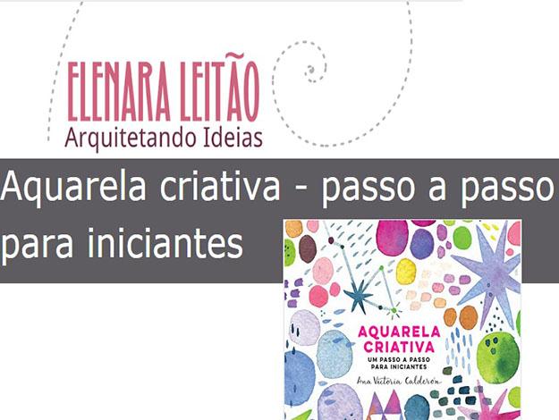 Indicação da parceira: Arquitetando Ideias sobre o livro Aquarela criativa