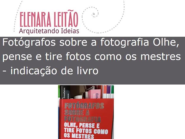 Indicação da parceira: Arquitetando ideias sobre o livro Fotógrafos sobre a fotografia