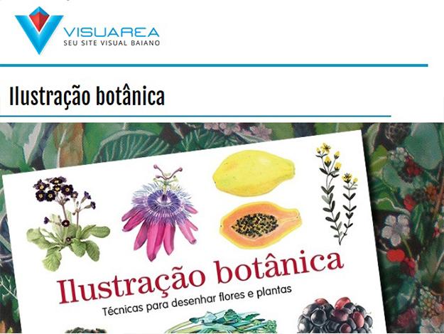 Indicação do parceiro: Visuarea sobre o livro Ilustração botânica