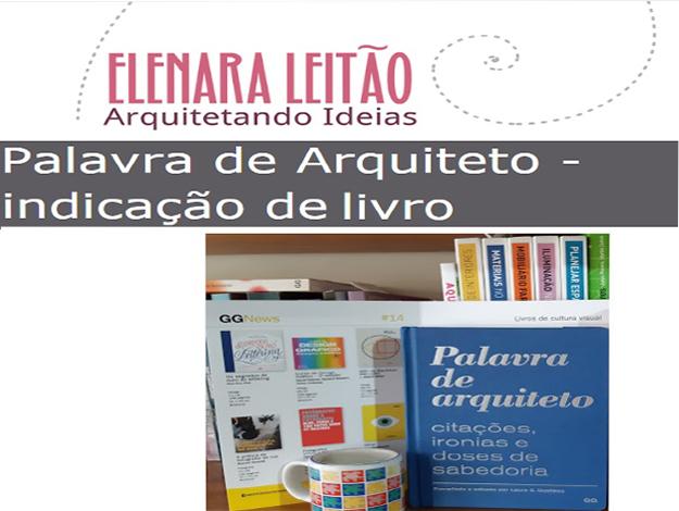 Indicação da parceira: Arquitetando ideias sobre o livro Palavra de arquiteto