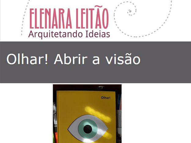 Indicação da parceira: Arquitetando Ideias sobre o livro Olhar