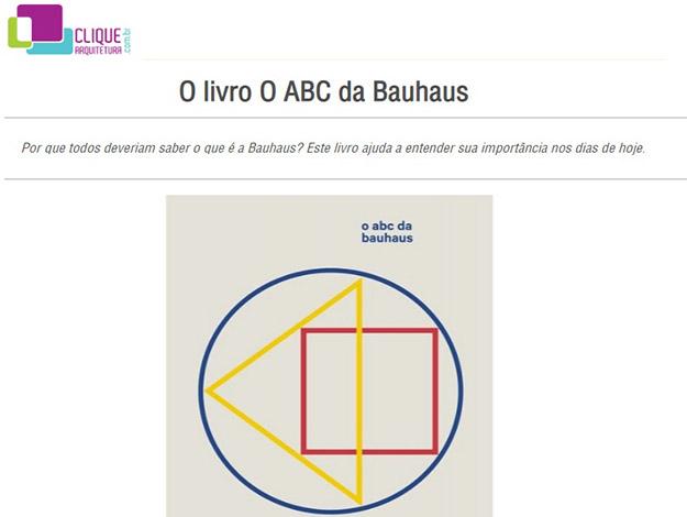 Indicação do parceiro: Clique arquitetura sobre o livro O ABC da bauhaus