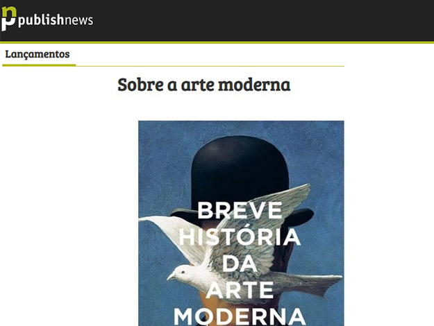 Indicação do parceiro: Publishnews sobre o livro Breve história da arte moderna