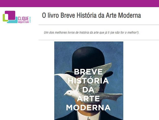 Indicação do parceiro: Clique arquitetura sobre o livro Breve história da arte moderna