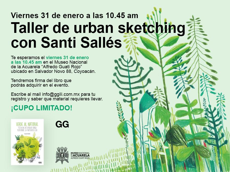 31/01 Taller de urban sketching con Santi Sallés