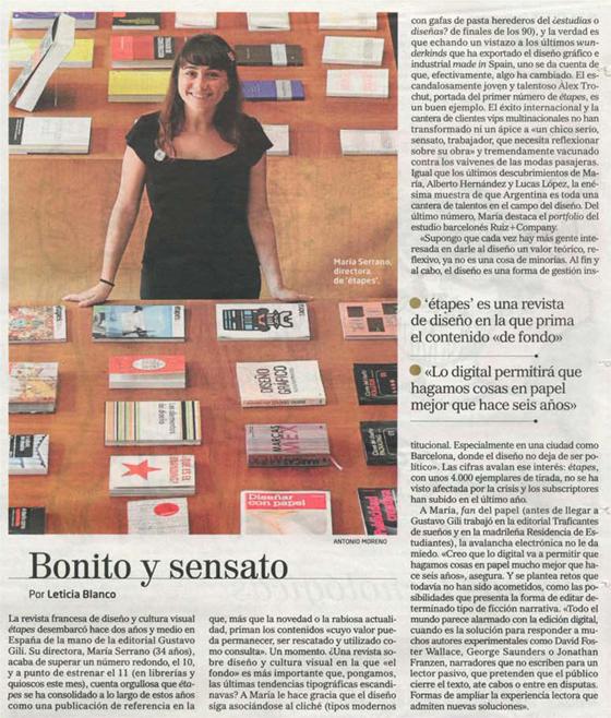 María Serrano entrevistada en El Mundo