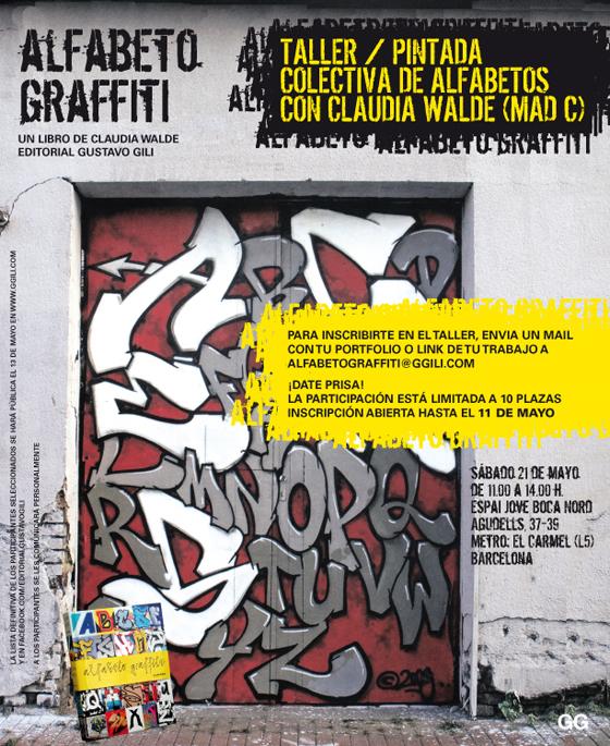 Taller > Alfabeto graffiti: pintada colectiva de alfabetos con Claudia Walde (Mad C)