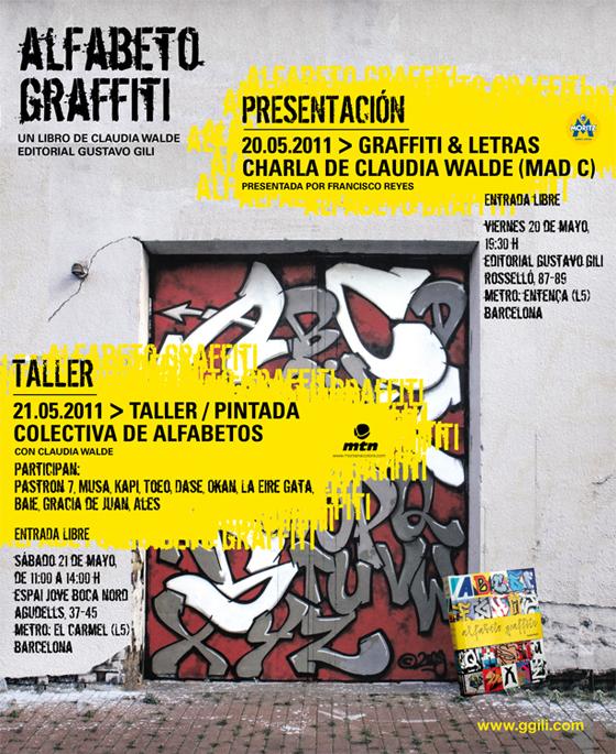 Charla + Taller > Claudia Walde presenta 'Alfabeto graffiti'