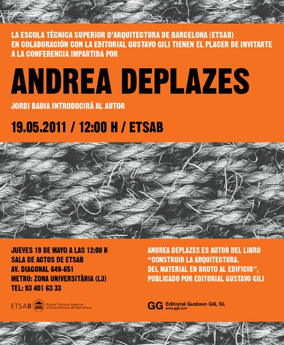 Conferencia > Andrea Deplazes en la ETSAB