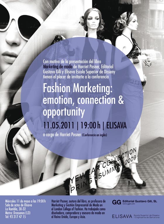 Conferencia > Harriet Posner presenta 'Marketing de moda'