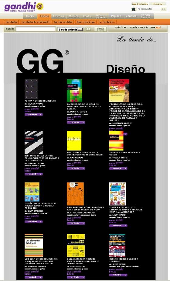 Promoción > Libros de diseño GG en Gandhi.com/mx