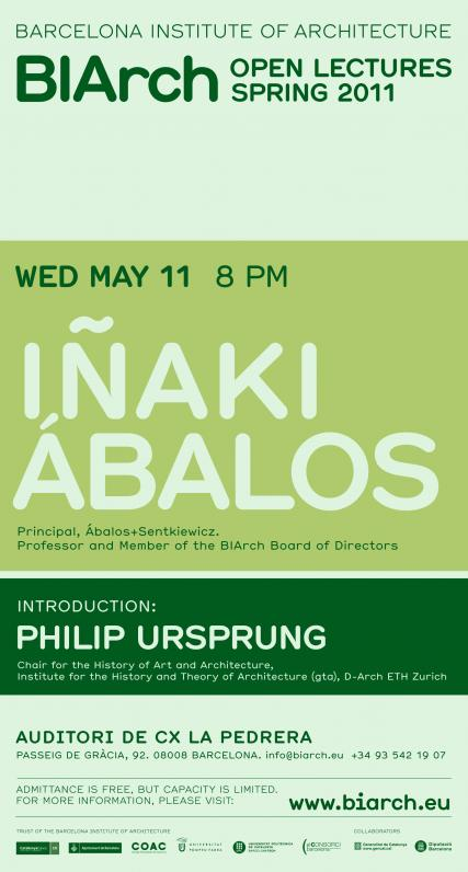 Lecture > Iñaki Ábalos in the BIArch