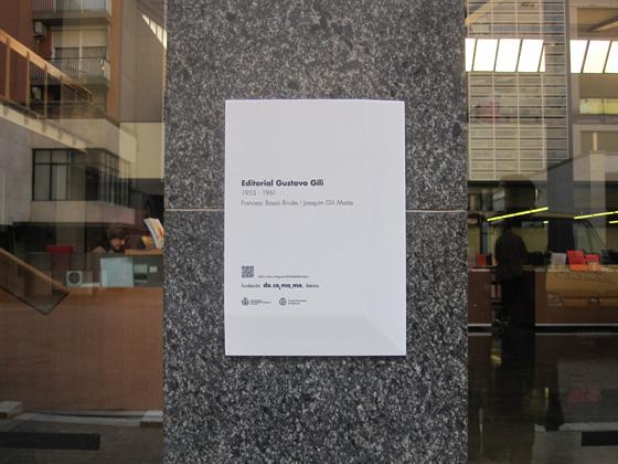 La Fundación DOCOMOMO coloca una placa en el Edificio Editorial Gustavo Gili