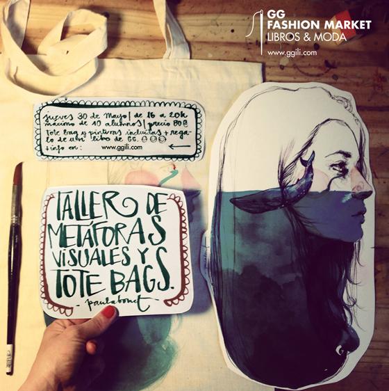 GG Fashion Market: workshops de ilustración y customización de ropa con Paula Bonet y Fiona Capdevila