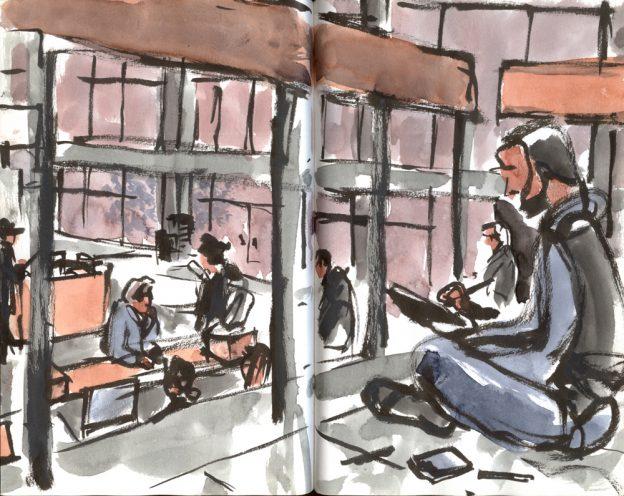 El edificio GG visto por 19 urban sketchers