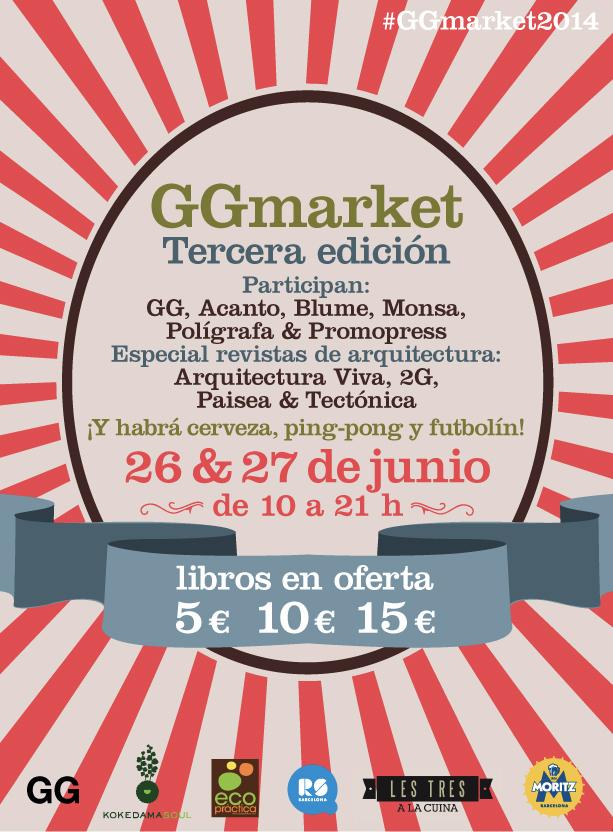 #GGmarket2014 > Vuelve el outlet de libros de arquitectura, diseño, arte y fotografía