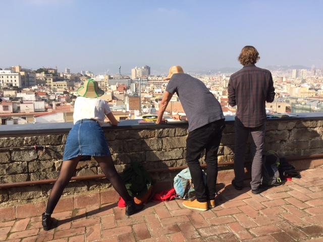 ¡El cielo a nuestros pies! Crónica fotográfica de una mañana de urban sketching en el tejado de la basílica de Santa Maria del Mar