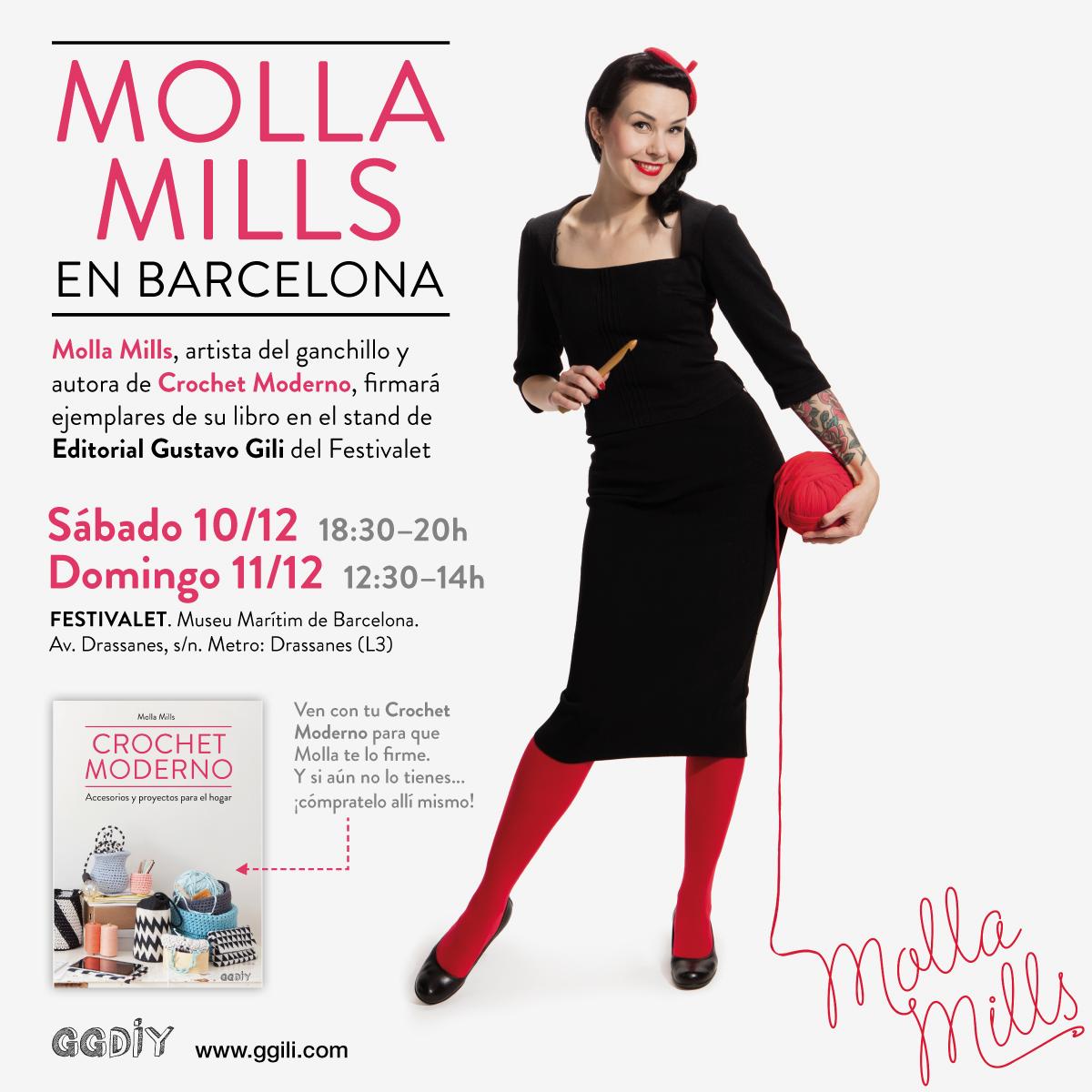 Diciembre de crochet > ¿Quieres conocer a Molla Mills y a las Ganchitos en persona?