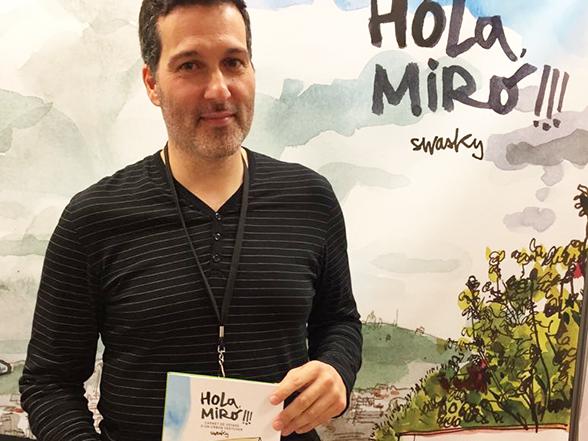 Premios > Swasky gana el Prix du Carnet de Voyage International 2017 con Hola Miró!!!