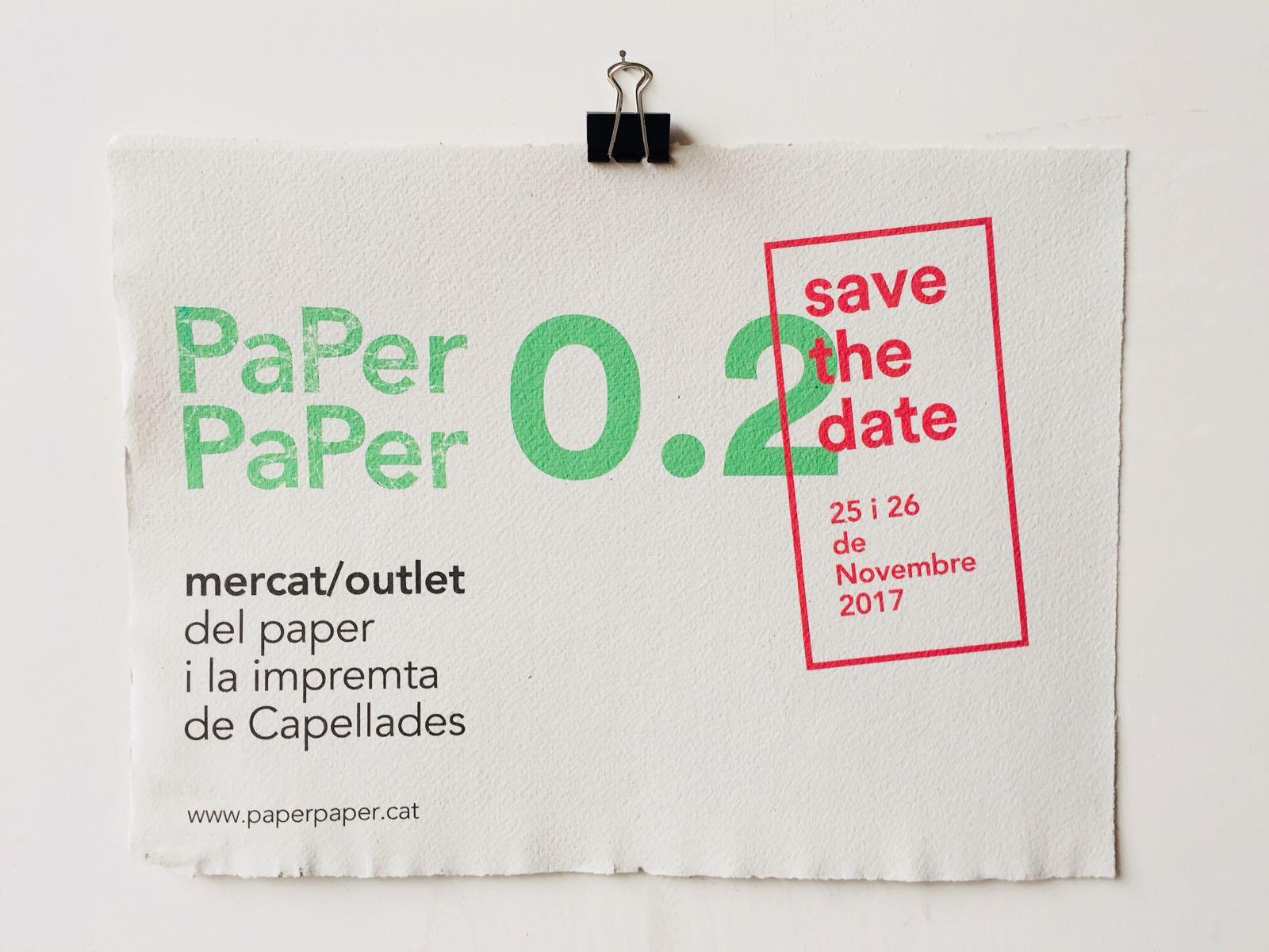 Mercado 25-26/11 > PaPer PaPer 0.2: ¡Volvemos al outlet del papel y la impresión artesanal!