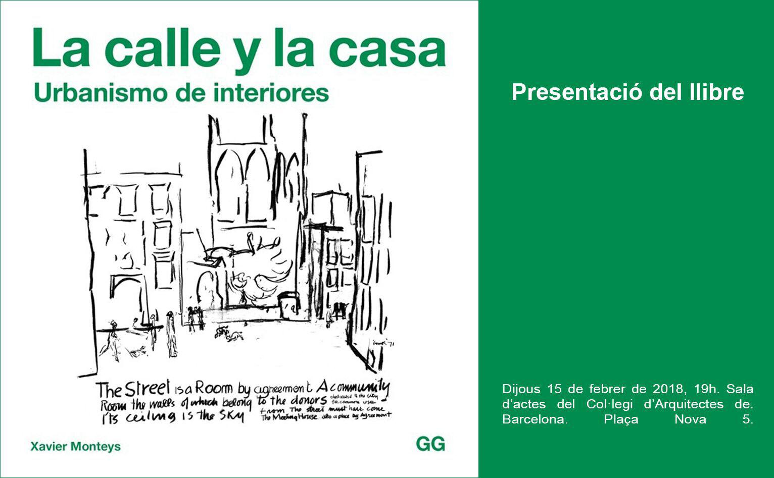 Presentación 15/02 > Xavier Monteys presenta su último libro