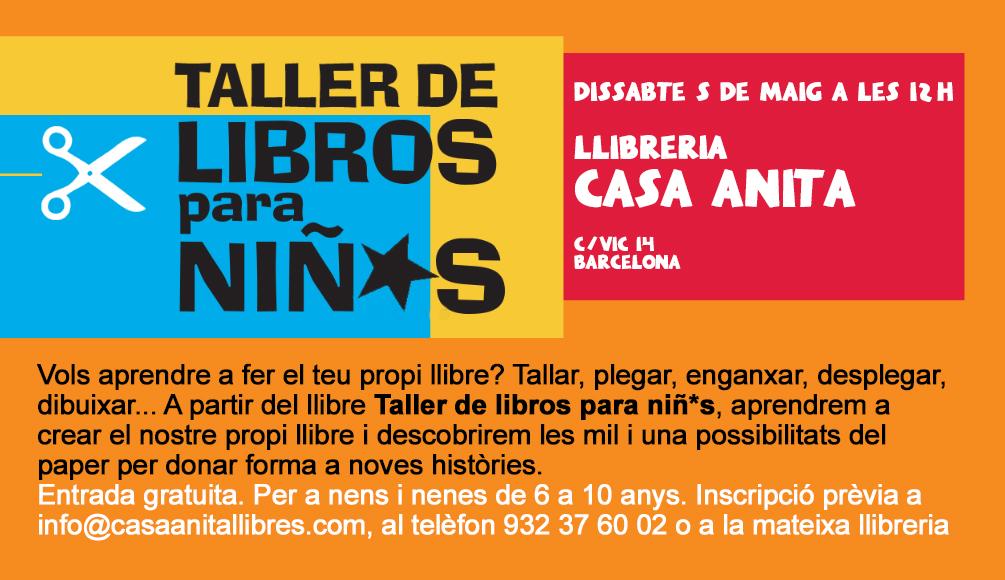 05/05 > Taller de libros para niñ*s en la librería Casa Anita (Gràcia, Barcelona)