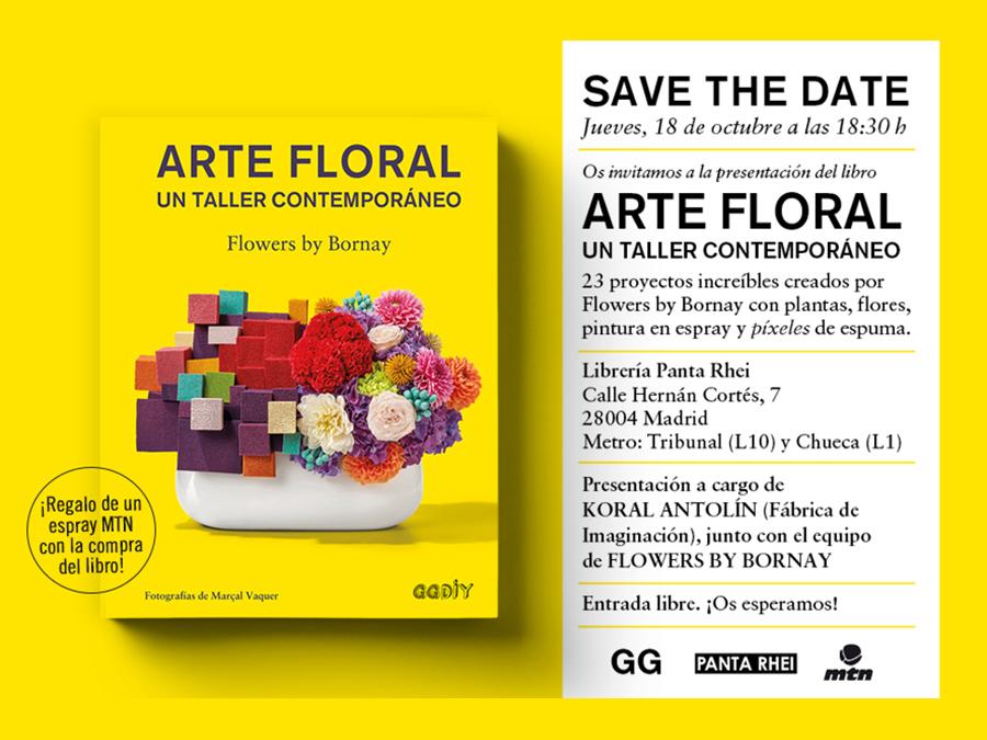 18/10 > ¡Presentación de 'Arte floral' en Madrid!
