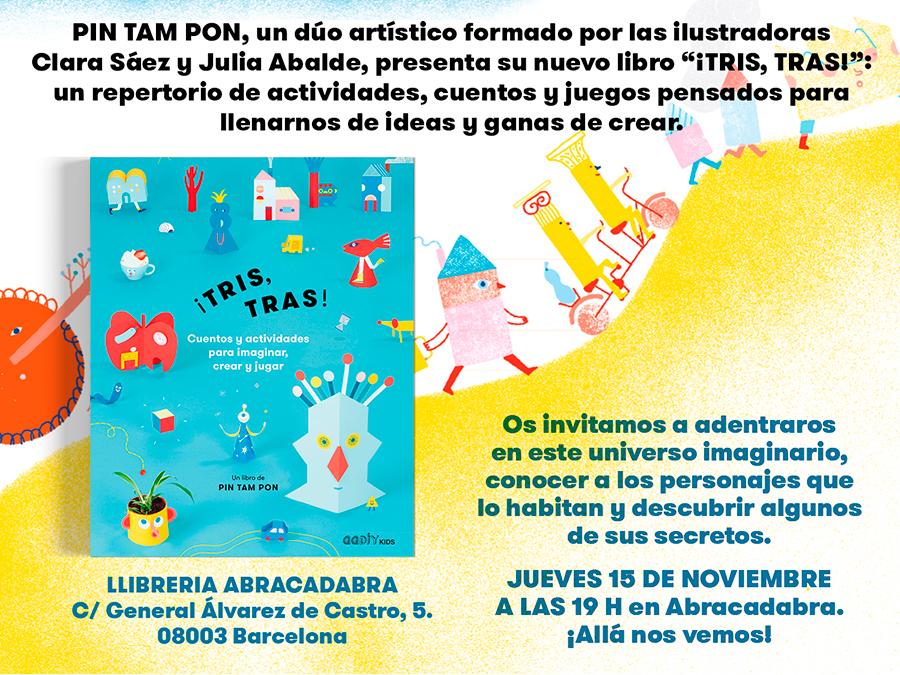 15/11 > Pin Tam Ponpresenta su libro de cuentos y actividades en Abracadabra