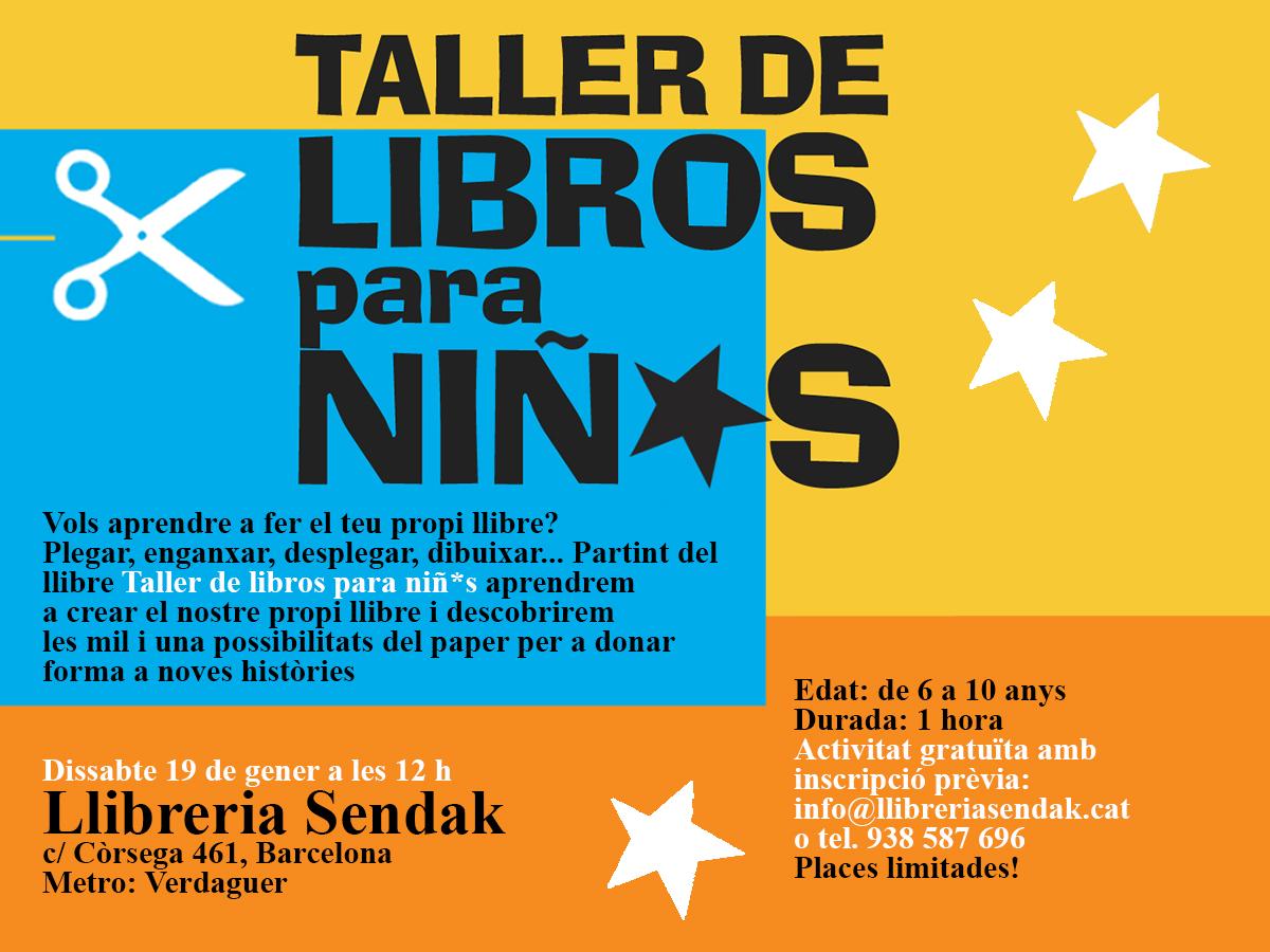 19/01 'Taller de libros para niñ*s' en la Sendak de Barcelona